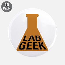 """Lab Geek 3.5"""" Button (10 pack)"""