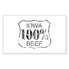 Iowa Beef Decal