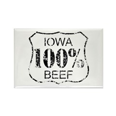 Iowa Beef Rectangle Magnet