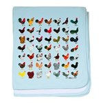49 Roosters baby blanket