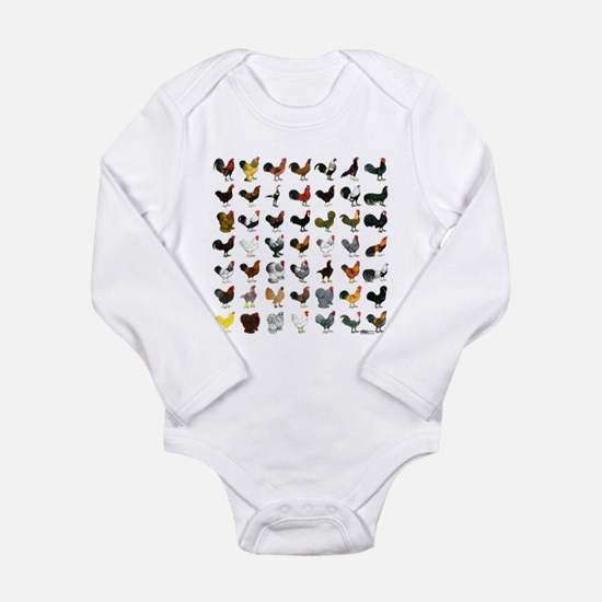 49 Roosters Long Sleeve Infant Bodysuit