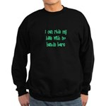 I Can Ride My Bike With No Ha Sweatshirt (dark)