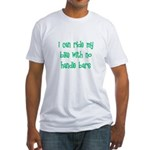 I Can Ride My Bike With No Ha Fitted T-Shirt