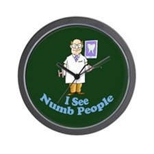 I See Numb People Wall Clock