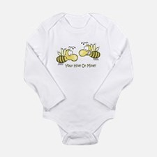 Your Hive Or Mine Long Sleeve Infant Bodysuit