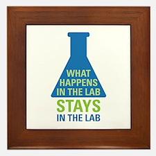 In The Lab Framed Tile