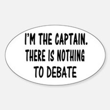 NOTHING TO DEBATE Decal