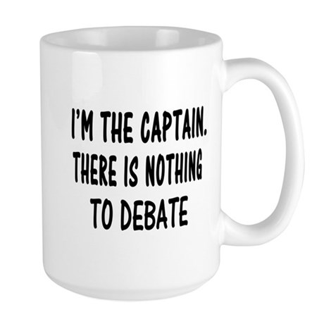 NOTHING TO DEBATE Large Mug