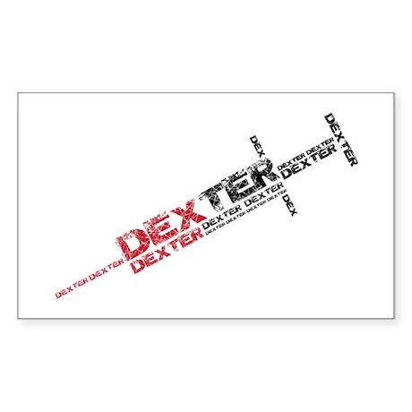 Dexter : Injection Needle Sticker (Rectangle)