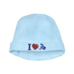 I love Snowmobiling baby hat