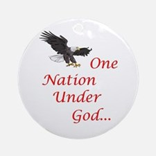 One Nation Under God Ornament (Round)