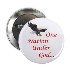 "One Nation Under God 2.25"" Button (10 pack)"