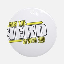 May the Nerd Ornament (Round)