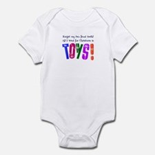 Forget Teeth, I Want Toys! Infant Bodysuit