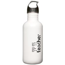 If A Child Can't Learn (Black Water Bottle