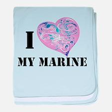 military valentine baby blanket