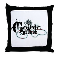 Gothic Groove Throw Pillow