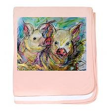 Pig, Couple, Cute, baby blanket