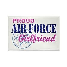 Proud Air Force Girlfriend Rectangle Magnet