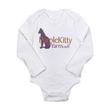Purple Kitty Long Sleeve Infant Bodysuit