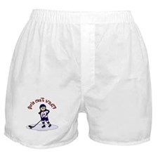 Light Hockey Girl Boxer Shorts