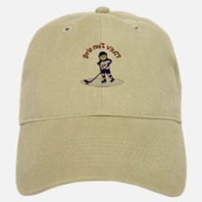 Light Hockey Girl Baseball Baseball Cap