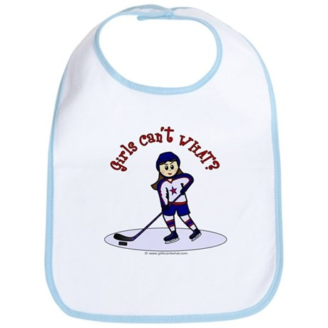 Light Hockey Girl Bib