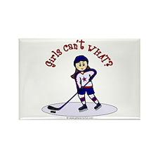 Light Hockey Girl Rectangle Magnet