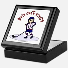 Light Hockey Girl Keepsake Box