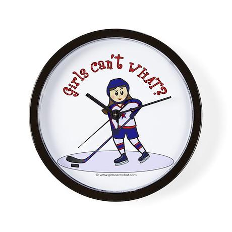 Light Hockey Girl Wall Clock