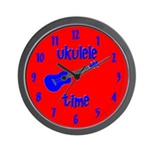 Ukulele Time Wall Clock