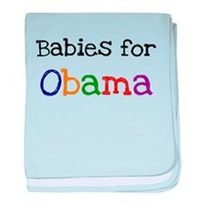 BABIES FOR OBAMA baby blanket