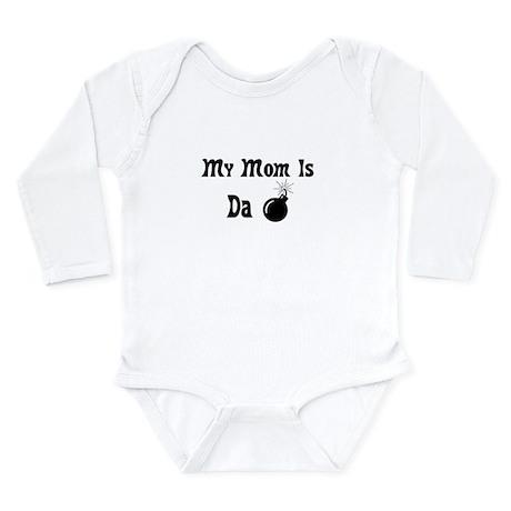 MY MOM IS DA BOMB Long Sleeve Infant Bodysuit
