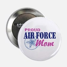"""Proud Air Force Mom 2.25"""" Button"""