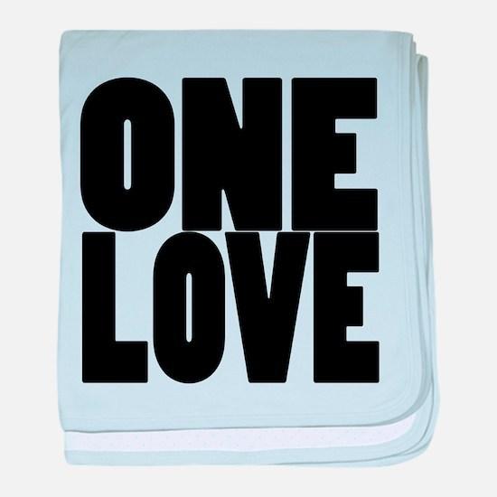 ONE LOVE baby blanket