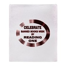Banned Books Week Throw Blanket
