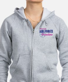 Proud Air Force Grandma Zip Hoodie