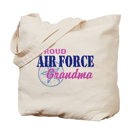 Proud Air Force Grandma Tote Bag