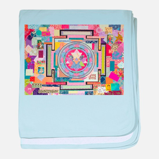 Sri Yantra Collage baby blanket