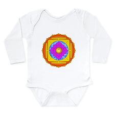 Om Lotus Yantra Long Sleeve Infant Bodysuit