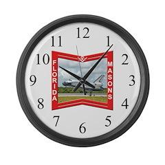 Florida Freemasons Large Wall Clock