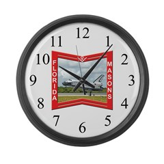 Florida Freemasons Large Wall Clock