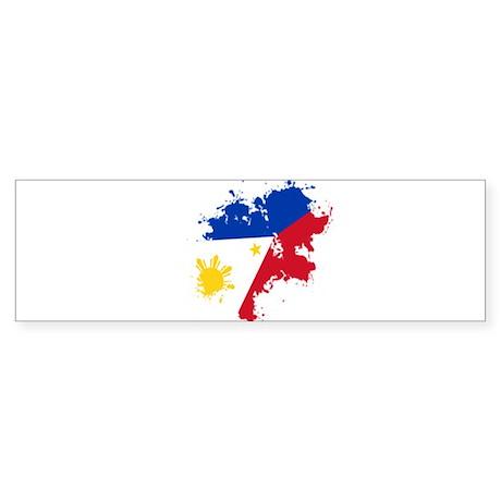Pinoy Flag Sticker (Bumper)