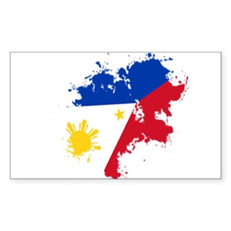 Pinoy Flag Sticker (Rectangle)