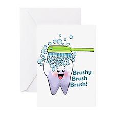 Brushy Brush Brush Greeting Cards (Pk of 20)