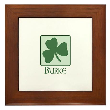 Burke Family Framed Tile