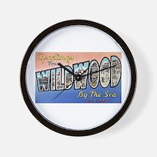 Vintage Wildwood Postcard 1 Wall Clock