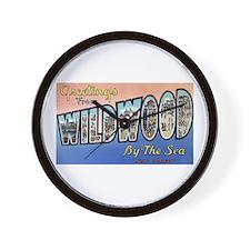 Wildwood by the Sea Wall Clock