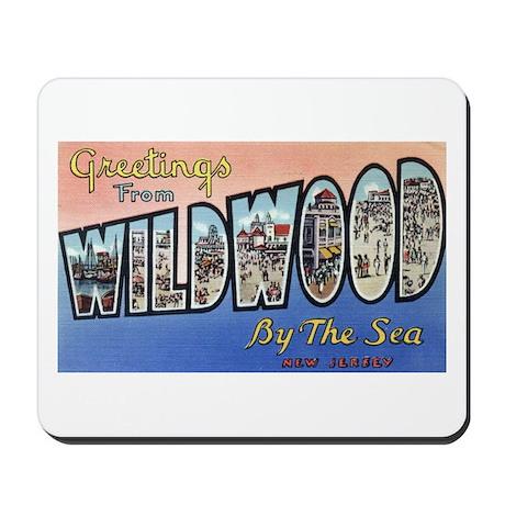 Vintage Wildwood Postcard 1 Mousepad