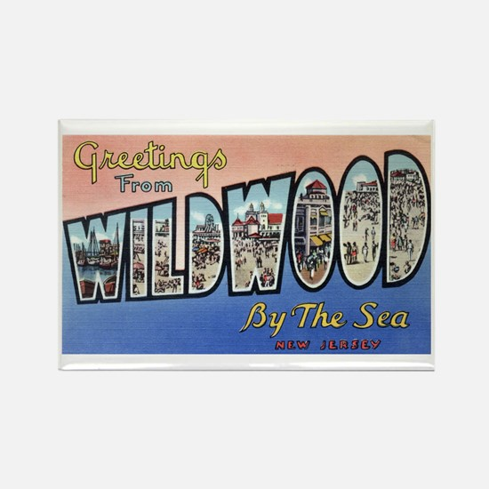 Vintage Wildwood Postca Rectangle Magnet (10 pack)